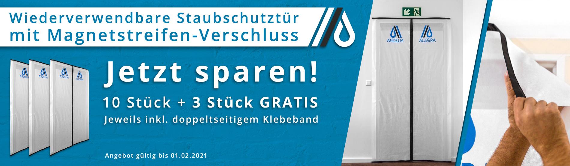 Qualität zum Sparpreis – 10 Staubschutztüren + 3 Staubschutztüren gratis!