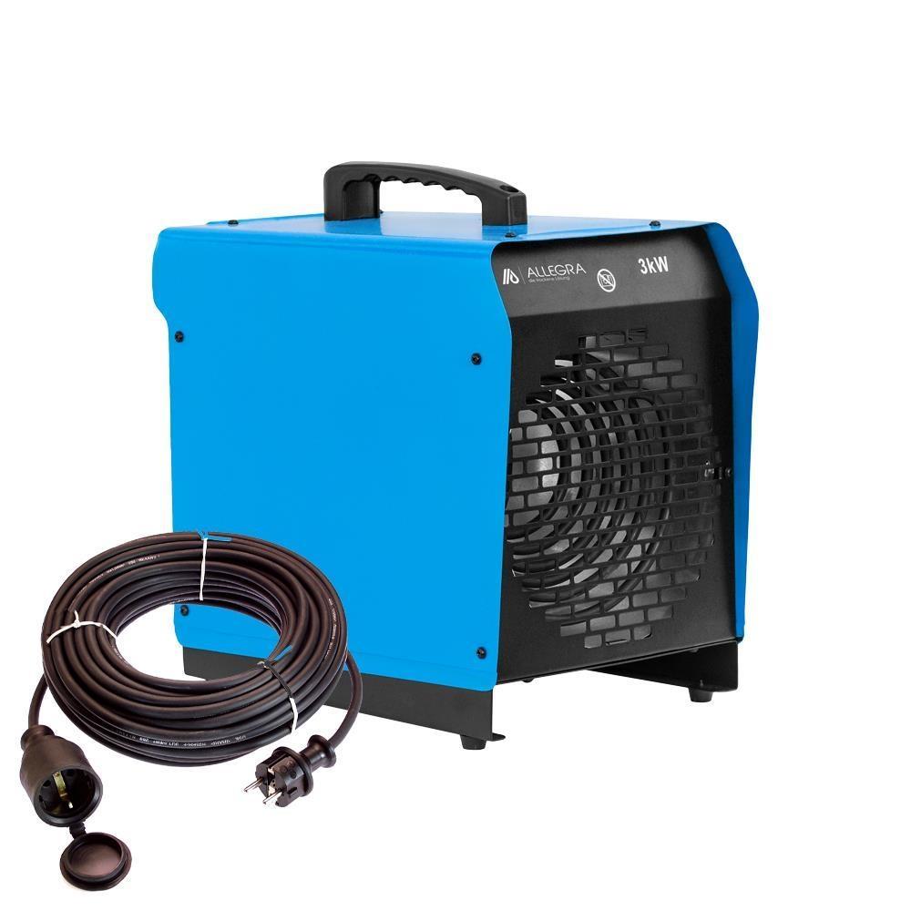 3 kw elektroheizer heizl fter heizger t bauheizer mit 10m v. Black Bedroom Furniture Sets. Home Design Ideas