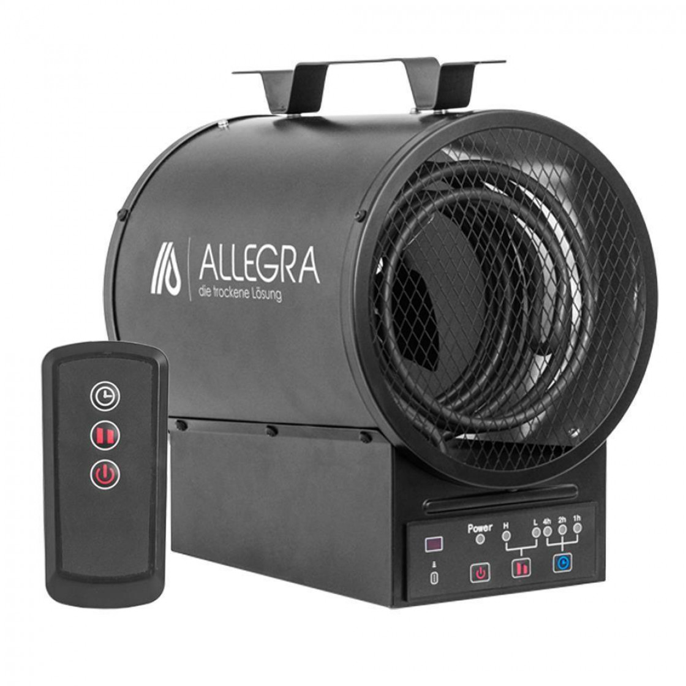 3 KW Elektroheizer Heizlüfter Heizgerät Bauheizer Fernbedienbar - ALLEGRA - H34